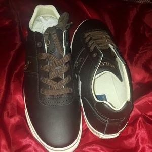 Men leather Ralph Lauren sneakers